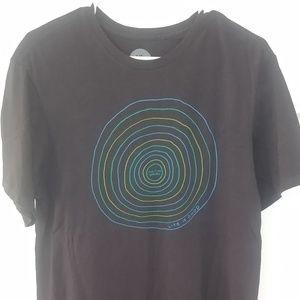 Life Is Good black t-shirt